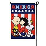 Peanuts PATRIOTIC PEANUTS AMERICA Garden Flag 12