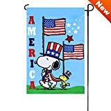 Peanuts PATRIOTIC AMERICA Garden Flag 12