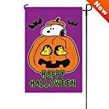 Halloween PEANUTS Happy Halloween Garden Flag 12